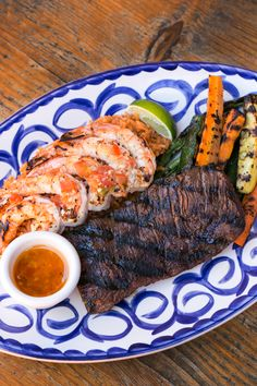 Surf n Turf! Surf N Turf, Delicious Dishes, Side Recipes, Ratatouille, Entrees, Brother, Menu, Fresh, Big