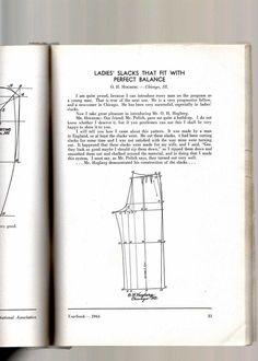 1944 Ladies' trouser draft | cutterandtailor.com