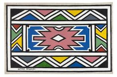 esther mahlangu Ethnic Patterns, Textures Patterns, African Patterns, African House, South African Art, Culture Club, Inspiring Things, African Design, Black History Month