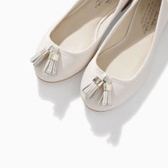 Image 4 of SOFT LEATHER BALLERINA FLATS from Zara