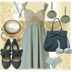 Blue Slip Dress with Blue