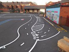 Road Track Playground Marking