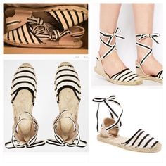 Soludos Classic Stripe Sandal Soludos Classic Stripe Sandal  The tie-up espadrille sandal is a Mediterranean style classic, perfect for ambling along windy streets or just crossing under your favorite beachside cafe table. This color is the timeless black and off-white sold out on Asos. Tag size US 10 they don't make half sizes this can fit a 9.5-10 do to the versatile tie around strap Urban Outfitters Shoes Flats & Loafers