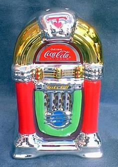 Vintage Coca Cola Jukebox Cookie Jar (this picture doesn't do it justice..these are beautiful.)