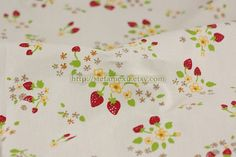 Chic Sweet Wild Strawberry Floral On Pale by stefaniexu on Etsy, $3.00