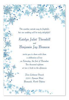 printable snowflake wedding invitations template print and create