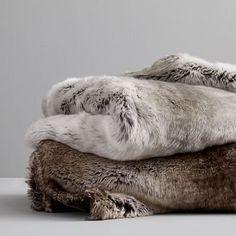 Faux Fur Ombre Throw, Mocha At West Elm - Throw Blankets - Bedding Faux Fur Blanket, Faux Fur Throw, Faux Fur Pillows, Hogwarts, Poppy Pattern, Bedding Shop, Fur Bedding, West Elm, Decoration