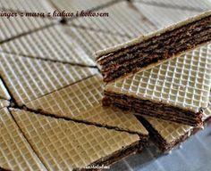 Wafle (pischinger) z masą czekoladową - bez mleka w proszku