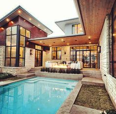 The Cat Mountain Residence Of Texas Minimalist Pool Backyard Decor Ideas Modern Landscape Design