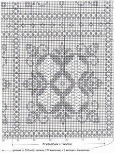 Photo from album on Yandex. Crochet Bedspread, Crochet Doilies, Crochet Lace, Embroidery Patterns, Crochet Patterns, Crochet Decoration, Square Patterns, Filet Crochet, Stitch