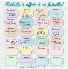 "Gift vouchers to offer Christmas moments of happiness (""Coupons Pour"" to print for free) - jully Ticket Cadeau, Cadeau Couple, Tumblr Love, Inspirational Verses, Social Media Engagement, Paper Anniversary, Gift Vouchers, Student Gifts, Love Messages"