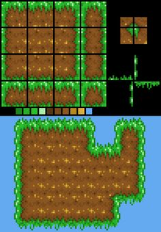 How to Design a Platformer Tileset I made this quick example to show you how my tilesets are set out:You  could also add another row or so o...