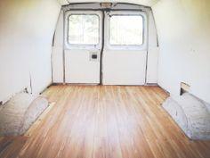 wooden van