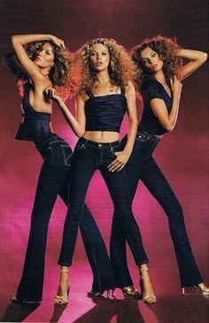 Gloria Vanderbilt jeans (S/S 2005): Gisele Bundchen, Kate Moss, Daria Werbowy