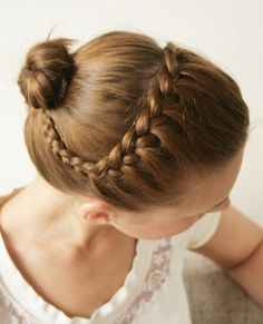 DIY Hairstyle Tutorials braided crown to bun