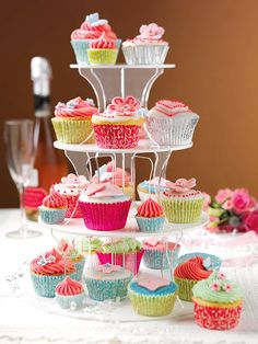 Cup Cake Wedding Cake Recipe #cupcakes  Check out our baking recipes   http://www.naturesbasket.co.in/recipes-bakes-speciality.html