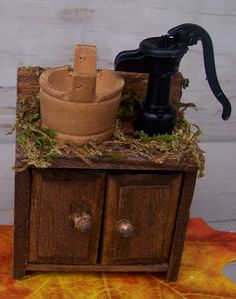 Fairy/Doll House pump sink by FaeryGrrlGardens on Etsy