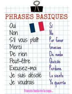 Francés hasta en la sopa...: Phrases basiques