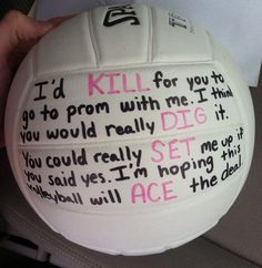 Asking a volleyball player to prom