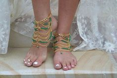 Bella anklet Emerald Onyx — Grace Bijoux