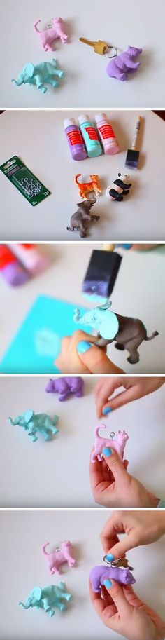 Funky Animal Keychain | DIY Gift Ideas for Sisters Birthday                                                                                                                                                     More