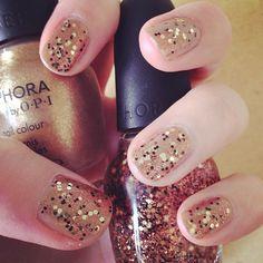 sanfranista - all that glitters! Gold & black glitter