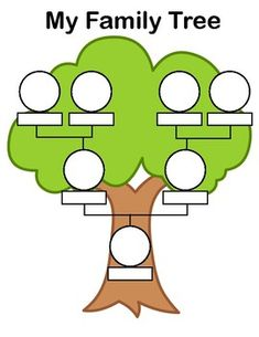 Ideas Family Tree Crafts Preschool Free Printable For 2019 Family Tree Drawing, Family Tree Book, Family Tree For Kids, Trees For Kids, Family Tree With Pictures, My Family, Book Tree, Picture Of Family Tree, Members Of The Family