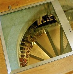 I want this trap door spiral wine cellar. Do you think the people living below me would mind if I dug a hole into their ceiling? {Images via The Kitchn by Spiral Cellars} Spiral Wine Cellar, Beer Cellar, Wine Cellars, Root Cellar, Saunas, Wine Cellar Design, Trap Door, Wine Collection, Wine Fridge