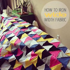 How to easily iron wide with fabric - think drapery, quilts, bedding, etc via MakelyHome.com