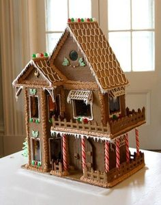 A Little Cabin in the Woods ….made of Gingerbread! | CHRISTMAS ...