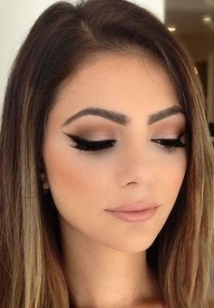 Make-up in Coffee Tones that you can not stop using. - Makeup Tips Natural Wedding Makeup, Wedding Hair And Makeup, Bridal Makeup, Natural Prom Makeup For Brown Eyes, Bridal Lipstick, Dark Makeup, Bridal Beauty, Glam Makeup, Wedding Beauty