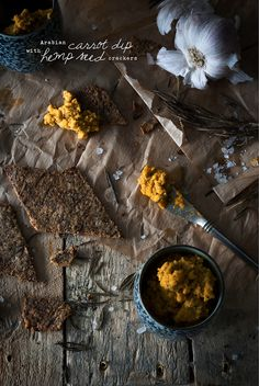 The Sexy Sugar Free Vegan Project: Arabian Carrot Dip with Hemp Seed Crackers - Wolf and Willow