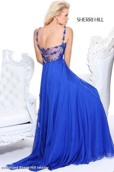 Sherri Hill's 2014 Prom Dress | Prom Dresses 2014 - Sherri Hill 11014 Long Chiffon