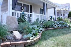 front porch flower beds ideas | Condo Blues: Recycled Front Porch and Garden Renovation Reveal !