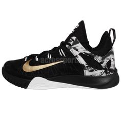 premium selection de7ad 3a353 Nike Zoom Hyperrev 2015 EP Black Gold PG Paul George PE Mens Basketball  Shoes http