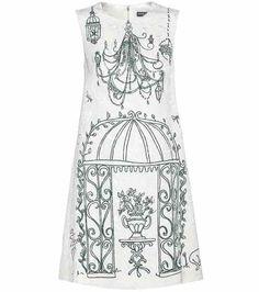 Printed jacquard dress   Dolce & Gabbana