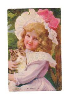 Vintage Postcard My Pretty Pet (Image1)