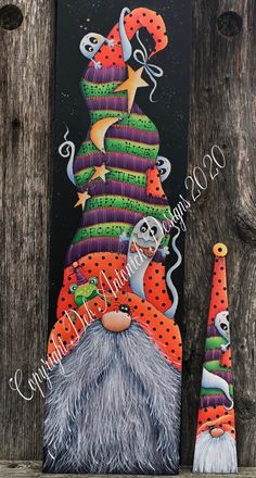 Fall Crafts, Holiday Crafts, Arts And Crafts, Fall Halloween, Halloween Crafts, Halloween Gourds, Halloween Signs, Gnome Paint, Tole Painting Patterns