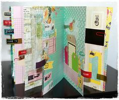 Nathalie Kalbach workshop, mini-album or Smash book