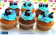 Cocinax2. Las recetas de Laurita.: Cupcakes de vainilla y de chocolate
