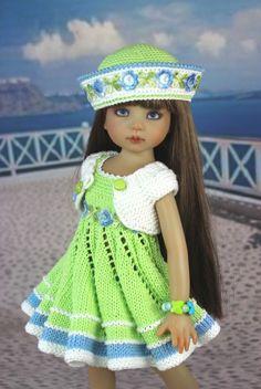 """Наряд """"Салатовый"""".Куклы Дианы Эффнер. / Одежда для кукол / Шопик. Продать купить куклу / Бэйбики. Куклы фото. Одежда для кукол"""