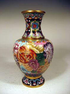 1960's Chinese cloisonne vase