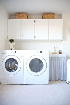Add function & storage to your laundry room with these laundry room decor ideas! You have to see the before!