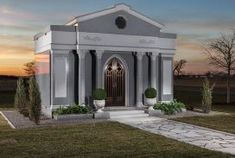 View our classic mausoleum gallery. Learn about the The Verdi Mausoleum. From Forever Legacy, America's Premiere mausoleum builders. Arch Doorway, Granite Colors, Stone Walkway, Corinthian, Site Design, Old World, Gazebo, Taj Mahal, Exterior