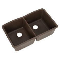 Blanco Diamond Undermount Granite Composite 32 in. 0-Hole Equal Double Bowl Kitchen Sink in Cafe Brown -FEB