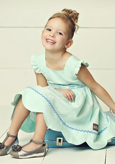 Light Blue Fantasy Folk Dress from Hello Lovely Collection, Matilda Jane Clothing