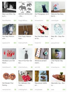 'In honor of World Animal Day!' by PeriDotbyDuni for the animal lovers among us  Pretty Little Things – Etsy Treasury's http://janesapple.com/pretty-little-things-etsy-treasurys/