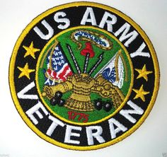 Shop embroidered military and veteran iron on patches. Military patches and veteran morale iron on patches for vests, biker jackets and clothes. Black Tees, Us Army Patches, Iron On Patches, Biker Patches, Military Humor, Military History, Military Life, Army Humor, Military Service