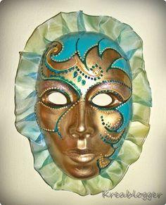 Blue and gold Venetian mask Lenten Season, Ash Wednesday, Venetian Masks, Epiphany, Mardi Gras, Techno, Carnival, Number 3, Blog
