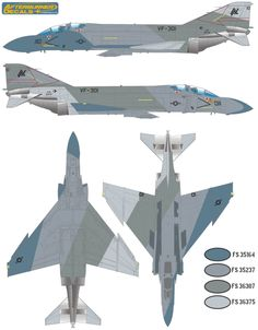 F-4S Phantom II Ferris Camouflage #1 Color Profile and Paint Guide Updated
